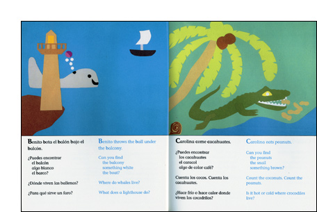 Inside look to Albertina Goes Up: An Alphabet Book/Albertina anda arriba: el abecedario